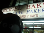 At the bagel bakery