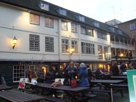 Outside the George Pub