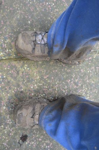 mummy's muddy boots